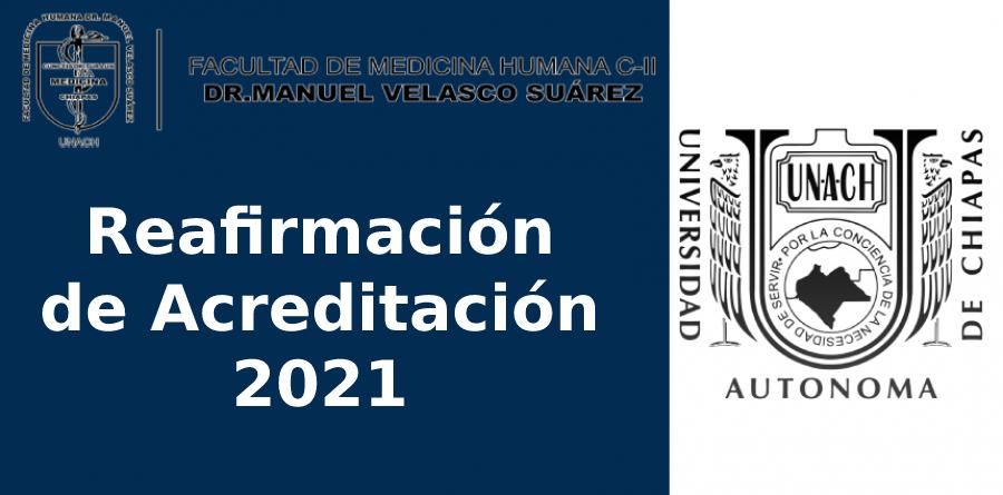 Reafirmación de Acreditación 2021