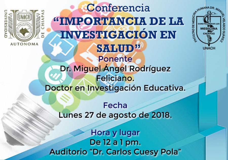 Conferencia Importancia de la Investigación en Salud